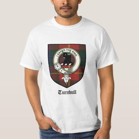 Turnbull Clan Crest Badge / Turnbull Tartan T-Shirt