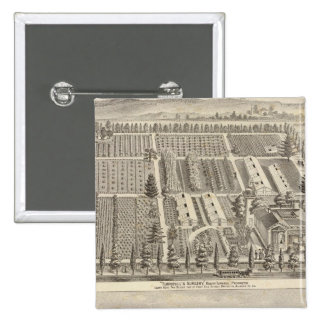 Turnbull's Nursery, Fitch res 2 Inch Square Button