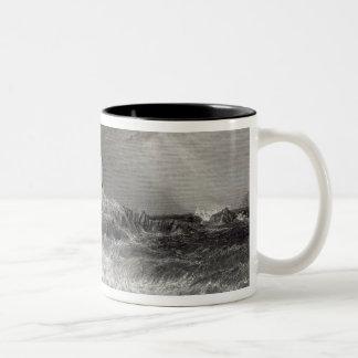 Turnbury Castle, engraved by S. Bradshaw Two-Tone Coffee Mug