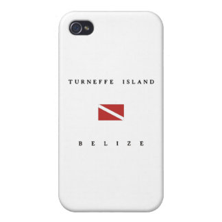 Turneffe Island Belize Scuba Dive Flag Cases For iPhone 4
