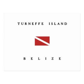 Turneffe Island Belize Scuba Dive Flag Postcard