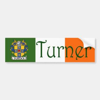 Turner Coat of Arms Flag Bumper Sticker