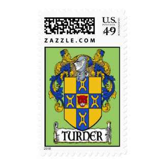 Turner Coat of Arms Postage Stamps
