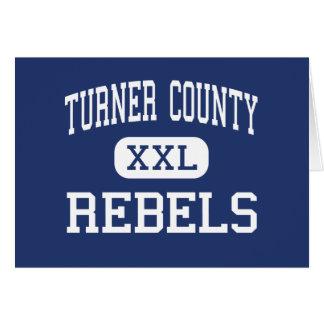 Turner County Rebels Middle Ashburn Georgia Greeting Cards