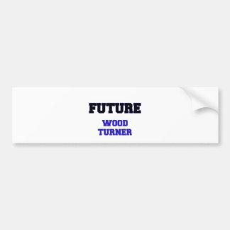 Turner de madera futuro pegatina de parachoque