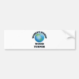 Turner de madera más atractivo del mundo etiqueta de parachoque