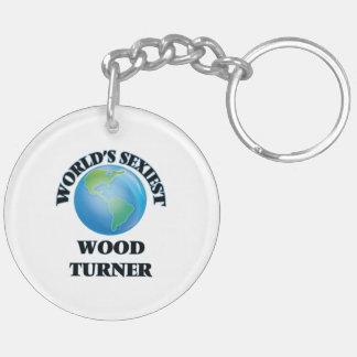 Turner de madera más atractivo del mundo llavero