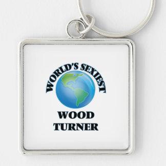 Turner de madera más atractivo del mundo llavero personalizado