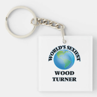 Turner de madera más atractivo del mundo llaveros