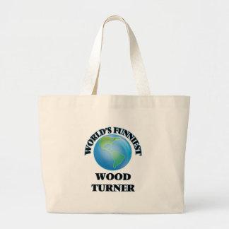 Turner de madera más divertido del mundo bolsas de mano