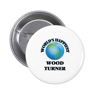 Turner de madera más feliz del mundo chapa redonda 5 cm