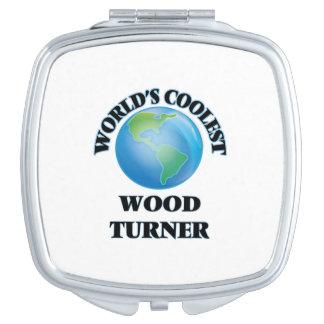 Turner de madera más fresco del mundo espejo maquillaje