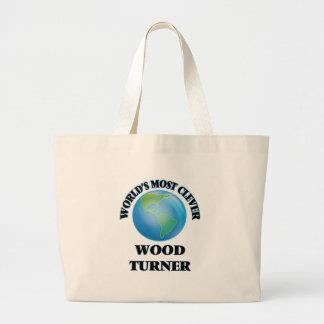 Turner de madera más listo del mundo bolsas de mano