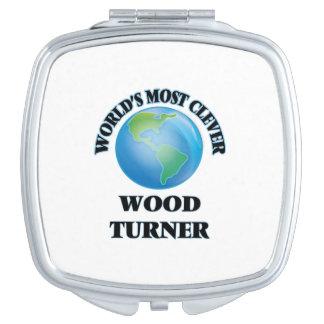 Turner de madera más listo del mundo espejo de maquillaje