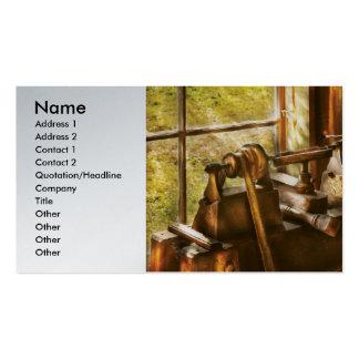 Turner de madera - un torno viejo tarjetas de visita