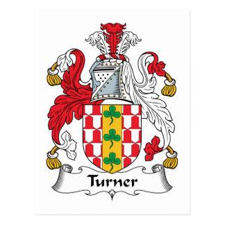 Turner Family Crest Postcard
