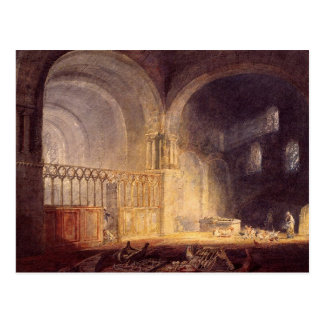 turner, j m w - transept of ewenny priory, glamorg post cards