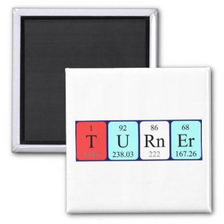 Turner periodic table name magnet