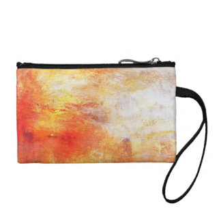 Turner Sun Setting Over A Lake Abstract Landscape Change Purse