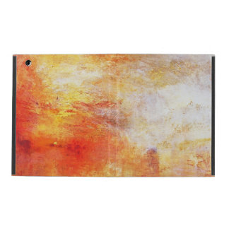 Turner Sun Setting Over A Lake Abstract Landscape iPad Cover