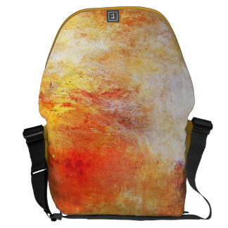 Turner Sun Setting Over A Lake Abstract Landscape Messenger Bag
