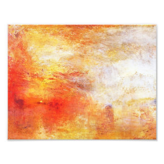 Turner Sun Setting Over A Lake Abstract Landscape Photographic Print