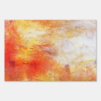 Turner Sun Setting Over A Lake Abstract Landscape Yard Sign