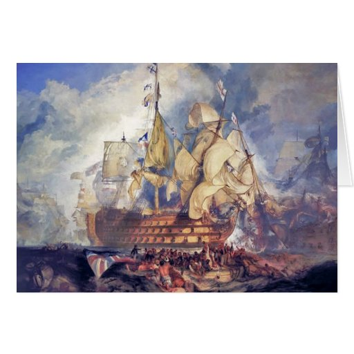 turner, the battle of trafalgar (1822) card