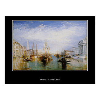 Turner The Grand Canal Art Vintage Poster