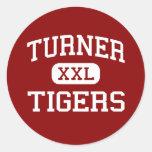 Turner - Tigers - Elementary - Shreveport Round Sticker