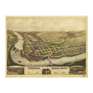 Turners Falls Massachusetts (1877) Gallery Wrapped Canvas