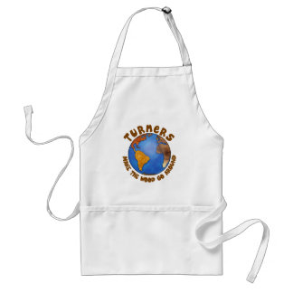 Turners Globe Funny Woodturning Earth Adult Apron