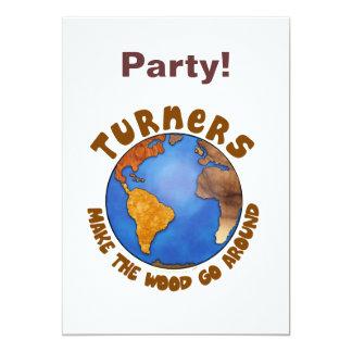 Turners Globe Funny Woodturning Earth Card