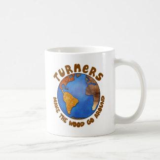 Turners Globe Funny Woodturning Earth Coffee Mug