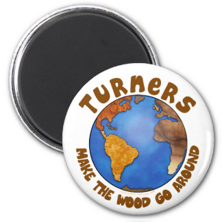 Turners Globe Funny Woodturning Earth Magnet