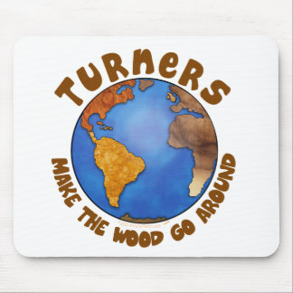 Turners Globe Funny Woodturning Earth Mouse Pad