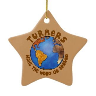 Turners Globe Funny Woodturning Earth ornament
