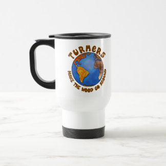Turners Globe Funny Woodturning Earth Travel Mug