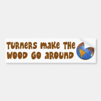 Turners Globe Woodturning Earth Bumper Sticker
