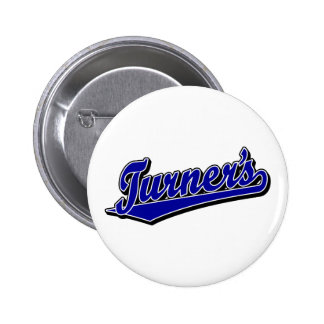Turner's script logo in Blue Button