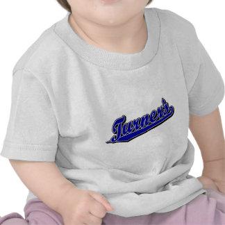 Turner's script logo in Blue Shirt