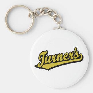 Turner's script logo in Gold Keychains