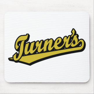 Turner's script logo in Gold Mouse Pad
