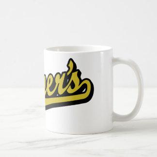 Turner's script logo in Gold Classic White Coffee Mug