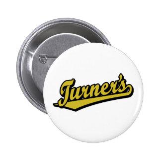 Turner's script logo in Gold Pins