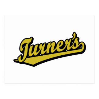 Turner's script logo in Gold Postcard