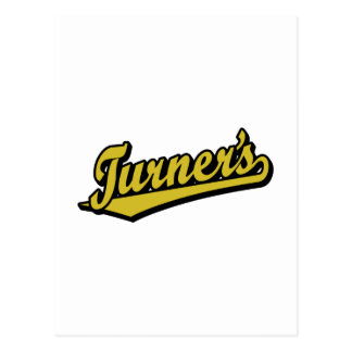 Turner's script logo in Gold Postcard