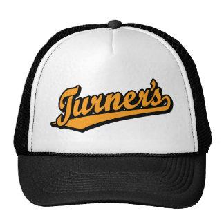 Turner's script logo in Orange Trucker Hat