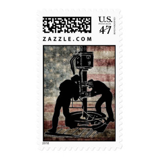 Turnin to the Right, American Oilfield Stamp