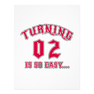 Turning 02 Is So Easy Birthday Letterhead